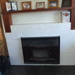 Centre View Of Fireplace